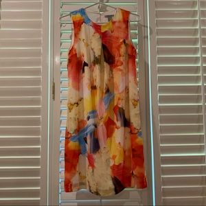H&M Abstract Water Colour Dress